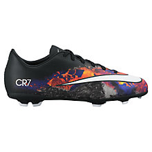 Buy Nike Mercurial Victory V FG Kids' Football Boots, Black/Multi Online at johnlewis.com