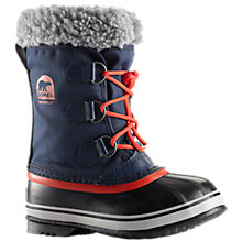Buy Sorel Yoot Pac Nylon Winter Boots, Navy/Sail Red Online at johnlewis.com
