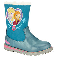 Buy Disney Frozen Anna & Elsa PU Boots, Blue Online at johnlewis.com