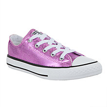 Buy Converse Chuck Taylor All Star Trainers, Pink Glitter Online at johnlewis.com