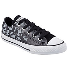 Buy Converse CTAS Animal Print Lace Shoes, Grey/Black Online at johnlewis.com