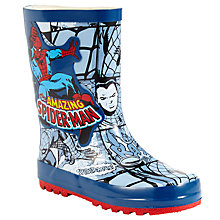 Buy Pediped Cortina Spider-Man Wellington Boots, Blue/Red Online at johnlewis.com
