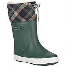 Buy Aigle Giboulee Light Spruce Wellington Boots, Green Online at johnlewis.com