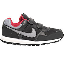 Buy Nike MD Runner Sports Shoes, Black/Grey Online at johnlewis.com