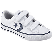 Buy Converse Star Player Shoes, White/Navy Online at johnlewis.com