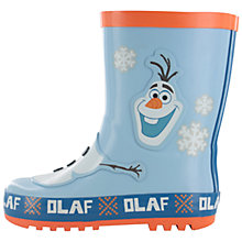 Buy Disney Frozen Olaf Wellingtons, Blue Online at johnlewis.com