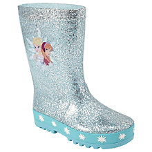 Buy Disney Frozen Elsa & Anna Wellington Boots, Blue Online at johnlewis.com