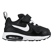 Buy Nike Infant Air Max Trax Sports Shoes, Black/White Online at johnlewis.com