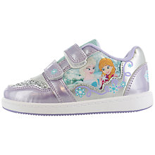 Buy Disney Frozen Anna & Elsa Rip-Tape Trainers, Purple/Silver Online at johnlewis.com