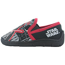 Buy Star Wars Slip-On Darth Vader  Slippers, Black/Red Online at johnlewis.com
