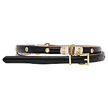 Buy Reiss Marianne Slim Studded Belt, Black Online at johnlewis.com