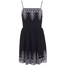 Buy Miss Selfridge Embroidered Sun Dress, Black Online at johnlewis.com
