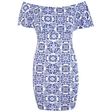 Buy Miss Selfridge Assorted Tile Print Dress, Multi Online at johnlewis.com