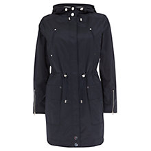 Buy Mint Velvet Ovoid Parka Jacket, Navy Online at johnlewis.com