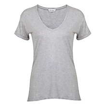 Buy Miss Selfridge Longline T-Shirt, Light Grey Online at johnlewis.com
