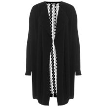 Buy Miss Selfridge Lace Back Cardigan, Black Online at johnlewis.com