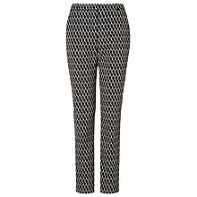 Buy L.K. Bennett Tora Slim Trousers, Black/Cream Online at johnlewis.com