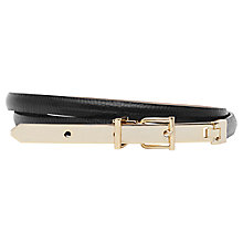 Buy Reiss Jessica Suede Belt, Black Online at johnlewis.com