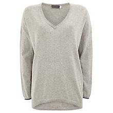 Buy Mint Velvet Embellished Back Jumper, Grey Online at johnlewis.com