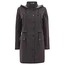 Buy Mint Velvet Double Front Parka Jacket, Graphite Online at johnlewis.com
