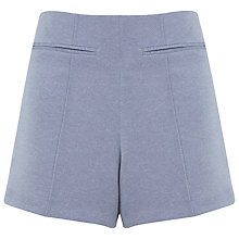 Buy Miss Selfridge High Waist Shorts, Pale Blue Online at johnlewis.com