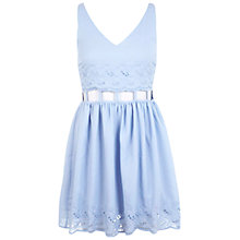 Buy Miss Selfridge Cut Out Waist Dress, Blue Online at johnlewis.com
