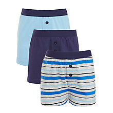 Buy John Lewis Boys' Boxer Shorts, Pack of 3, Blue Online at johnlewis.com