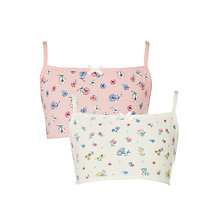 Buy John Lewis Girls' Vintage Floral Crop Top, Pack of 2, Pink/White Online at johnlewis.com
