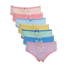 Buy John Lewis Girls' Days of the Week Butterfly Briefs, Pack of 7, Multi Online at johnlewis.com