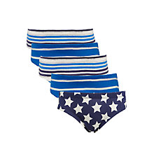 Buy John Lewis Boys' Nautical Stripe And Star Pants, Pack of 5, Blue Online at johnlewis.com