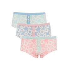 Buy John Lewis Girls' Bold Floral Shortie Briefs, Pink/Blue Online at johnlewis.com
