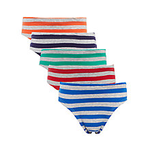 Buy John Lewis Boys' Stripe Pants, Pack of 5, Multi Online at johnlewis.com