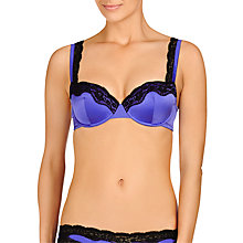Buy Stella McCartney Clara Whispering Contour Balcony Bra, Bluebell Black Online at johnlewis.com