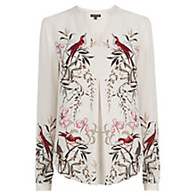 Buy Warehouse Placement Bird Print Blouse, Multi Online at johnlewis.com