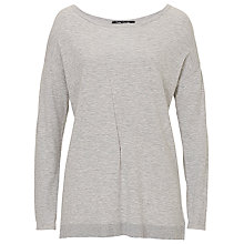 Buy Betty Barclay Slash Neck Jumper, Light Grey Melange Online at johnlewis.com