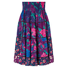 Buy East Francesca Print Skirt, Plum Online at johnlewis.com