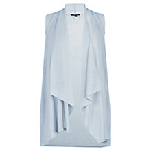 Buy Warehouse Sleeveless Waterfall Top, Light Grey Online at johnlewis.com