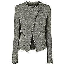 Buy L.K. Bennett Darya Tweed Jacket, Black / Cream Online at johnlewis.com