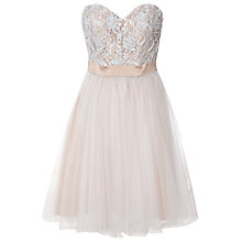 Buy True Decadence Pearl Embellished Dress, Nude Online at johnlewis.com