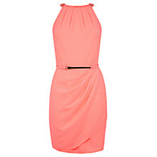 Buy Oasis Poppy Embellished Crepe Dress, Coral Online at johnlewis.com