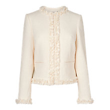Buy L.K. Bennett Malena Tweed Jacket, Cream Online at johnlewis.com