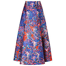 Buy L.K. Bennett Brunele Printed Skirt, Blue Online at johnlewis.com