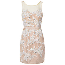 Buy True Decadence Lace Embellished Dress, Nude/Cream Online at johnlewis.com