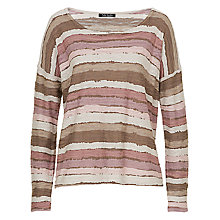 Buy Betty Barclay Textured Stripe Jumper, Rose / Cream Online at johnlewis.com