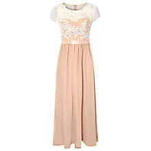 Buy True Decadence Lace Embellished Maxi Dress, Nude Cream Online at johnlewis.com