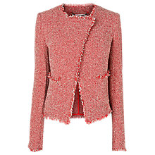 Buy L.K. Bennett Darya Tweed Jacket, Cardinal Red Online at johnlewis.com
