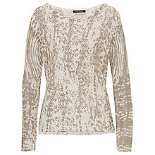 Buy Betty Barclay Open Knit Printed Jumper, Natural Online at johnlewis.com