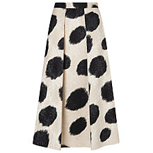Buy L.K. Bennett Monique Full Skirt, Black Online at johnlewis.com