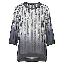 Buy Betty Barclay Graphic Striped Top, Black / White Online at johnlewis.com