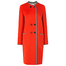 Buy L.K. Bennett Sereno Wool Coat, Cardinal Online at johnlewis.com